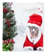 Xmas Holidays Greeting Card 108 Fleece Blanket