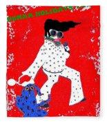 Happy Hunka Holiday Yall Fleece Blanket
