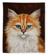 Happy Kitty Fleece Blanket