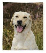 Happy Labrador Fleece Blanket