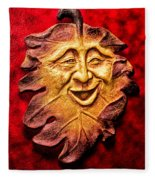 Happy Leaf Fleece Blanket