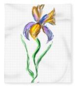 Happy Mother's Day Iris Fleece Blanket