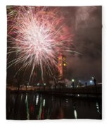 Happy New Year 2014 B Fleece Blanket