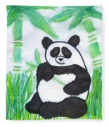 Happy Panda O.o. Fleece Blanket