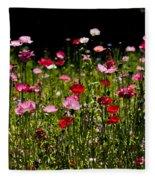 Happy Poppies Fleece Blanket