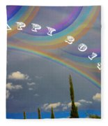 Happy Rainbows Fleece Blanket