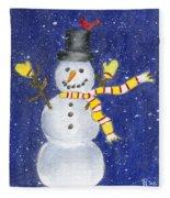 Happy Snow Fleece Blanket