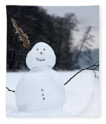 Happy Snowman Fleece Blanket