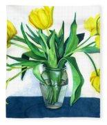 Happy Spring Fleece Blanket