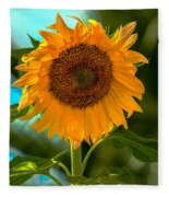 Happy Sunflower Fleece Blanket