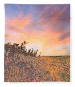 Happy Sunset Fleece Blanket