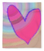 Happy Valentines Day Fleece Blanket