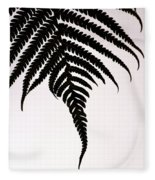 Hapu'u Frond Leaf Silhouette Fleece Blanket