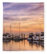 Harbor At Jekyll Island Fleece Blanket
