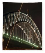 Harbor Bridge Fleece Blanket