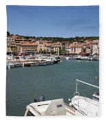 Harbor Cassis Fleece Blanket