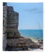 Harbor Island Ruins 1 Fleece Blanket