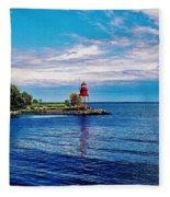 Harbor Light Fleece Blanket