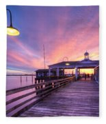 Harbor Lights Fleece Blanket