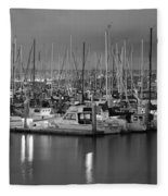 Harbor Lights II Fleece Blanket
