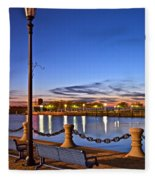 Harbor Lights Fleece Blanket