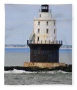 Harbor Of Refuge Light  Fleece Blanket