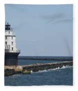 Harbor Of Refuge Lighthouse II Fleece Blanket