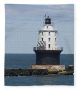 Harbor Of Refuge Lighthouse IIi Fleece Blanket