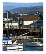 Harbor Sailboats Fleece Blanket