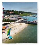 Harbor Town Beach 3 In Hilton Head Fleece Blanket