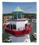 Harbor Town Lighthouse In Hilton Head Fleece Blanket