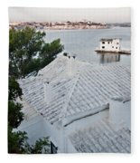 Port Mahon View With A Villa Called Venecia - Harbour Of My Dreams Fleece Blanket