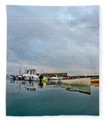 Harbour Overview 2 - Lyme Regis Fleece Blanket