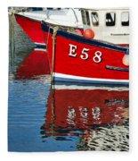 Harbour Reds Fleece Blanket
