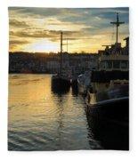 Harbour Sunset Fleece Blanket