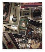 Hard Rock Cafe Hollywood Florida Fleece Blanket
