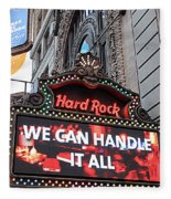 Hard Rock Cafe New York Fleece Blanket