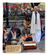 Hare Krishnas Nyc Fleece Blanket