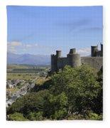 Harlech Castle Snowdonia Fleece Blanket
