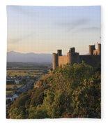 Harlech Castle Wales Fleece Blanket