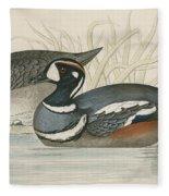 Harlequin Duck Fleece Blanket