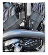 Harley Close-up Engine Close-up 1 Fleece Blanket