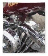Harley Close-up Possessed Fleece Blanket