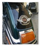 Harley Close-up Tail Light Fleece Blanket