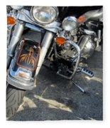 Harley Close-up W Shadow 1 Fleece Blanket