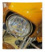 Harley Close-up Yellow 2 Fleece Blanket