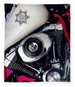 Harley Cop 2 Fleece Blanket