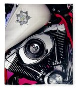 Harley Cop 2 Fleece Blanket