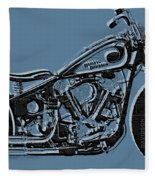 Harley-davidson And Words Fleece Blanket