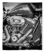 Harley Davidson Motorcycle Harley Bike Bw  Fleece Blanket